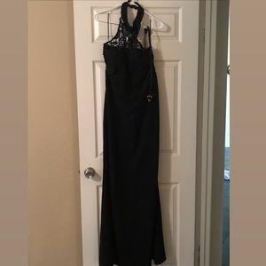 Halter Black Lace Dress
